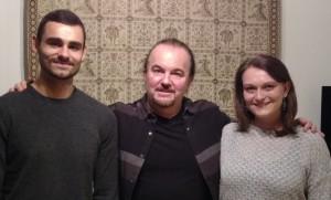Tristan Giovanoli, Lisa Hörl mit Prof. Kenneth Posey