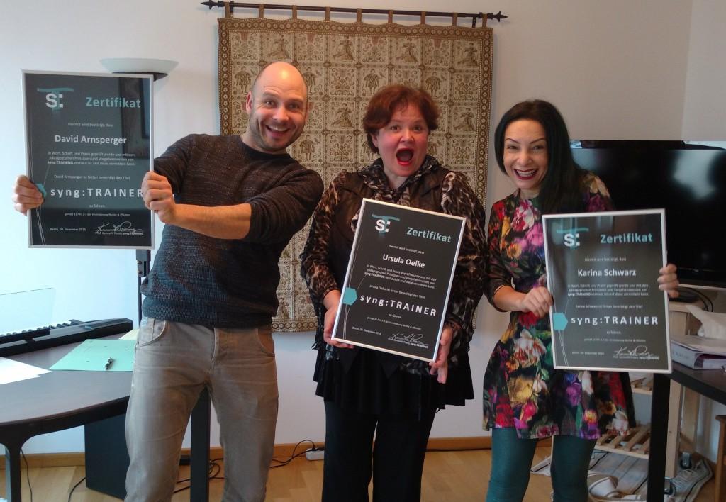 syng:TRAINER David Arnsperger, Ursula Oelke, Karina Schwarz